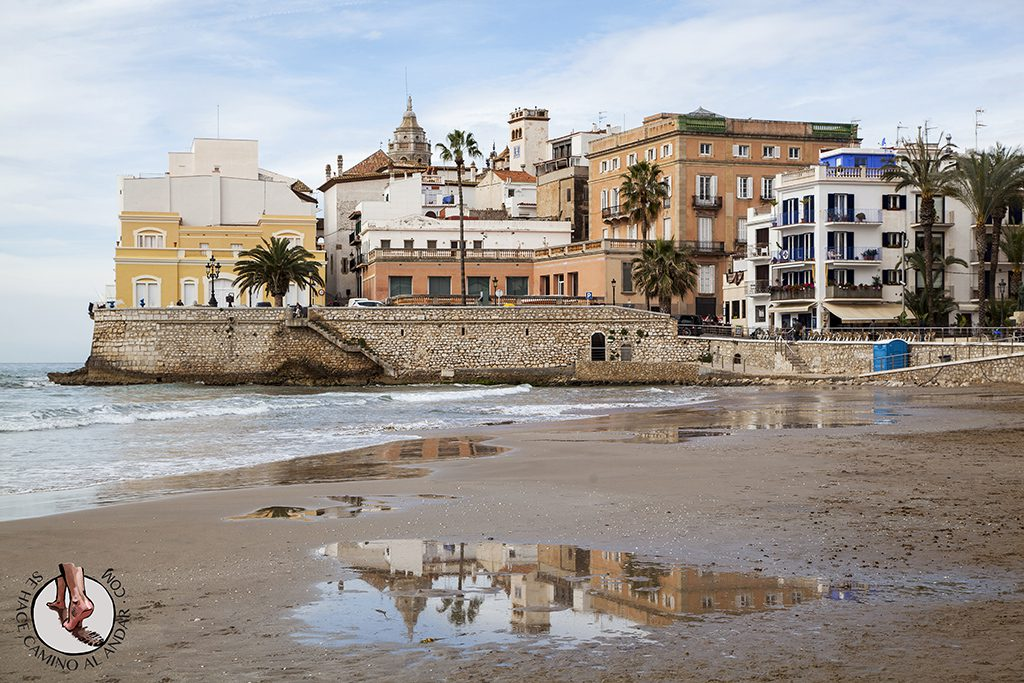 Reflejos Playa de San Sebastian Sitges