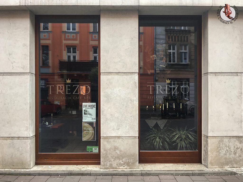Restaurante Trezo barrio judío Cracovia
