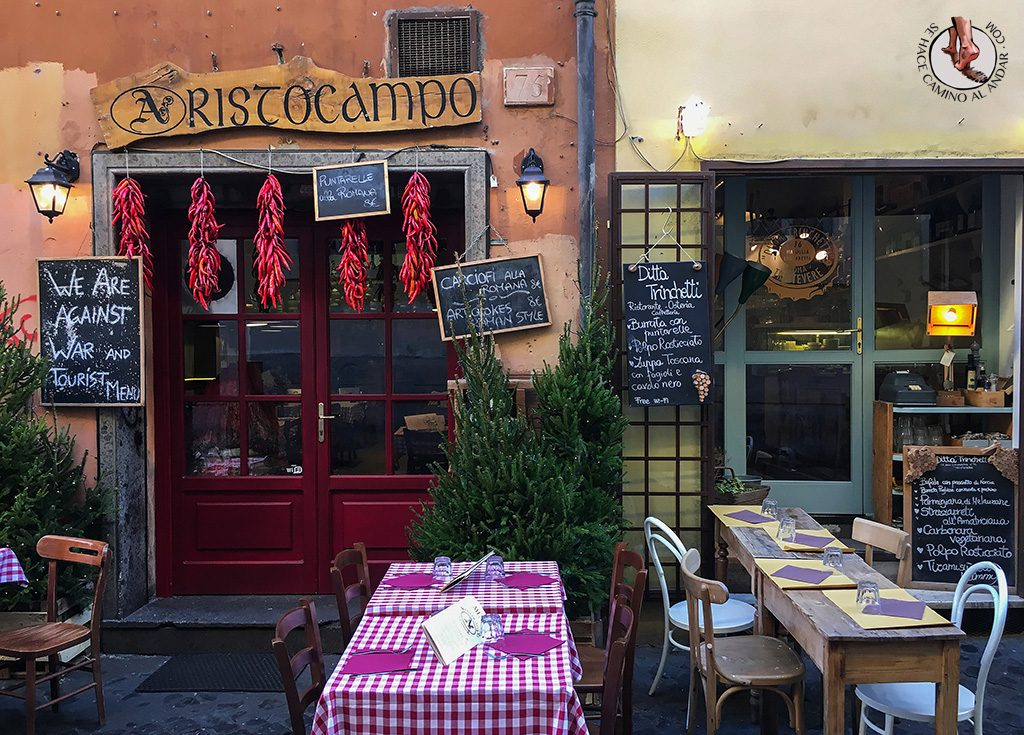 Restaurantes Barrio Trastevere
