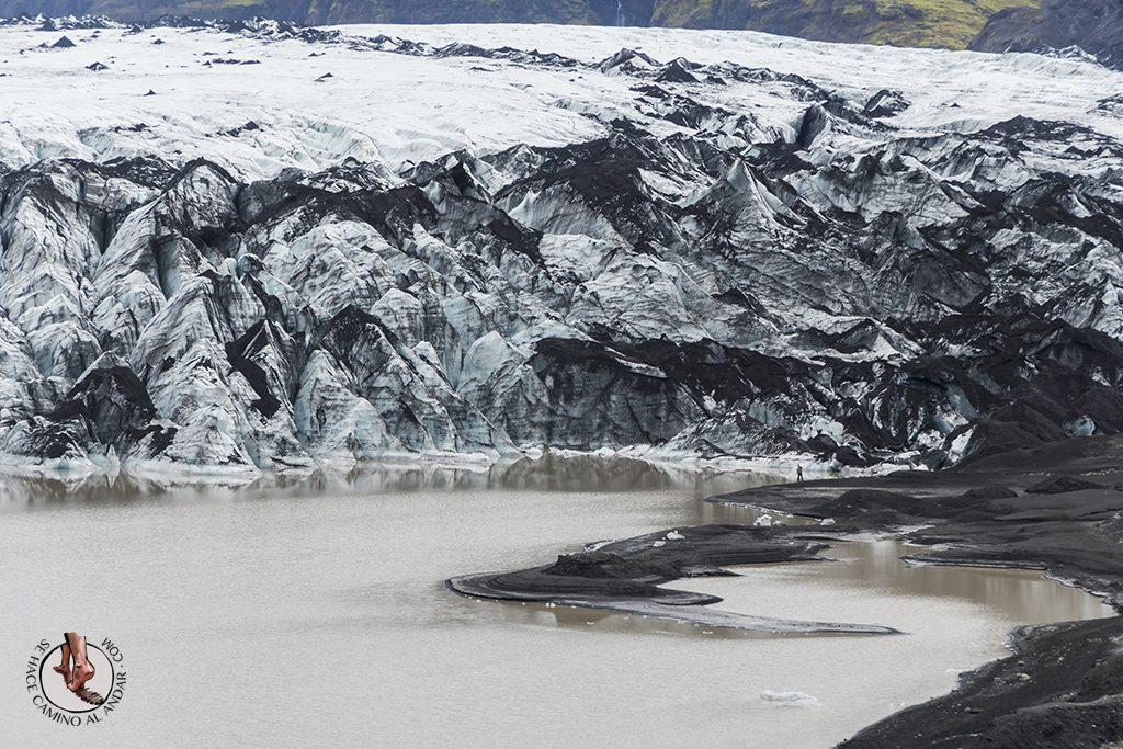 Ring Road 2-7 Glaciar Solheimajokull lago