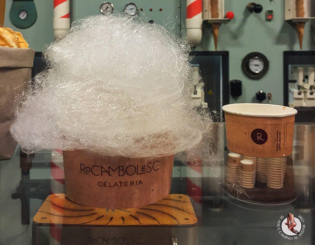 Rocambolesc helado algodón azúcar