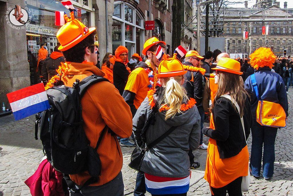 Souvenir naranja Amsterdam