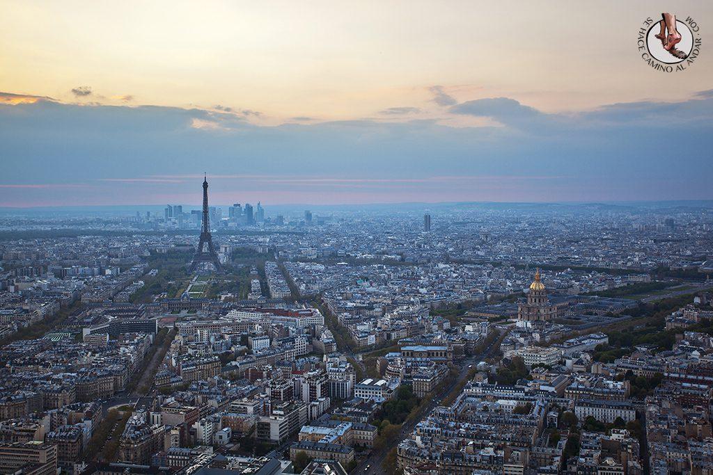Torre Eiffel Montparnasse dia