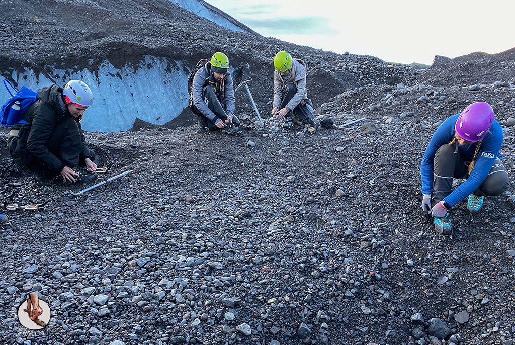 Trekking glaciar Virkisjokull crampones