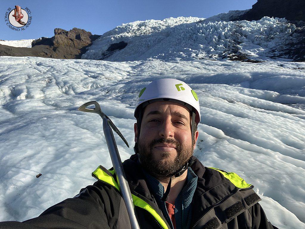 Trekking glaciar Virkisjokull selfie