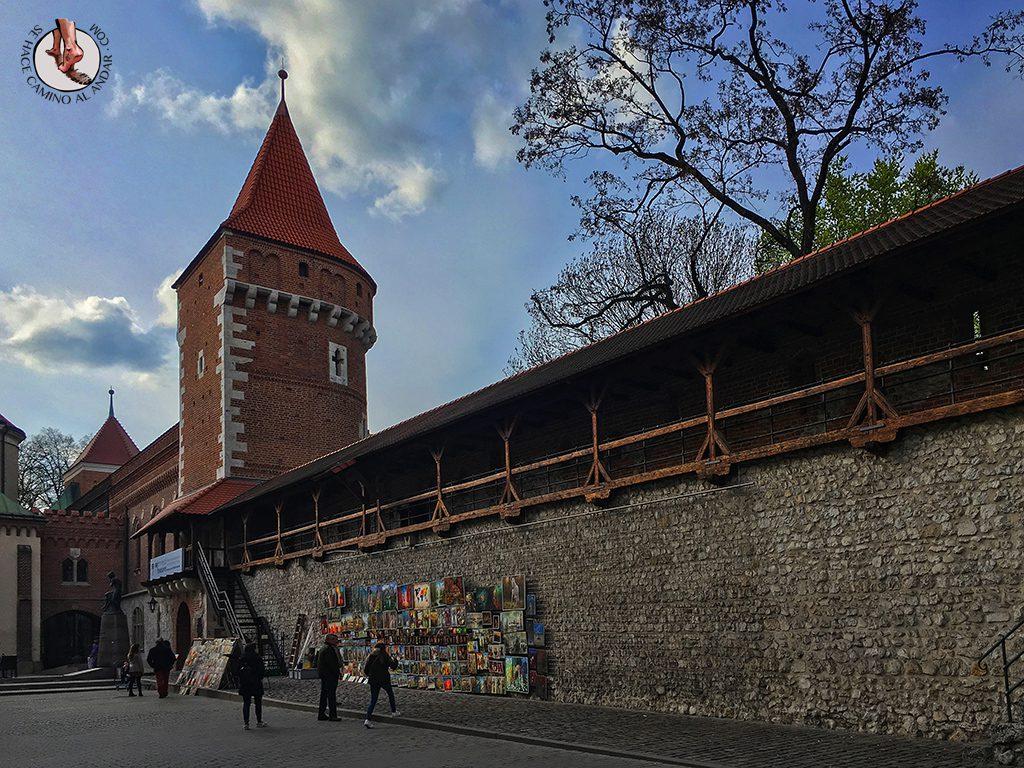 Trozo muralla Cracovia