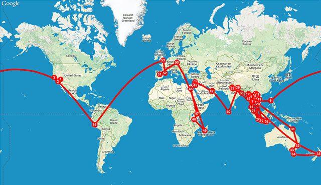Viajar para vivir mapa