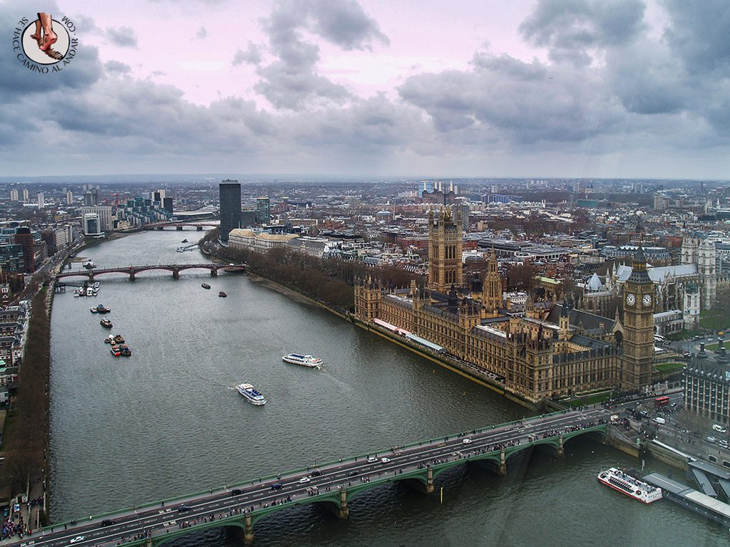 Vistas de Londres desde la noria London Eye