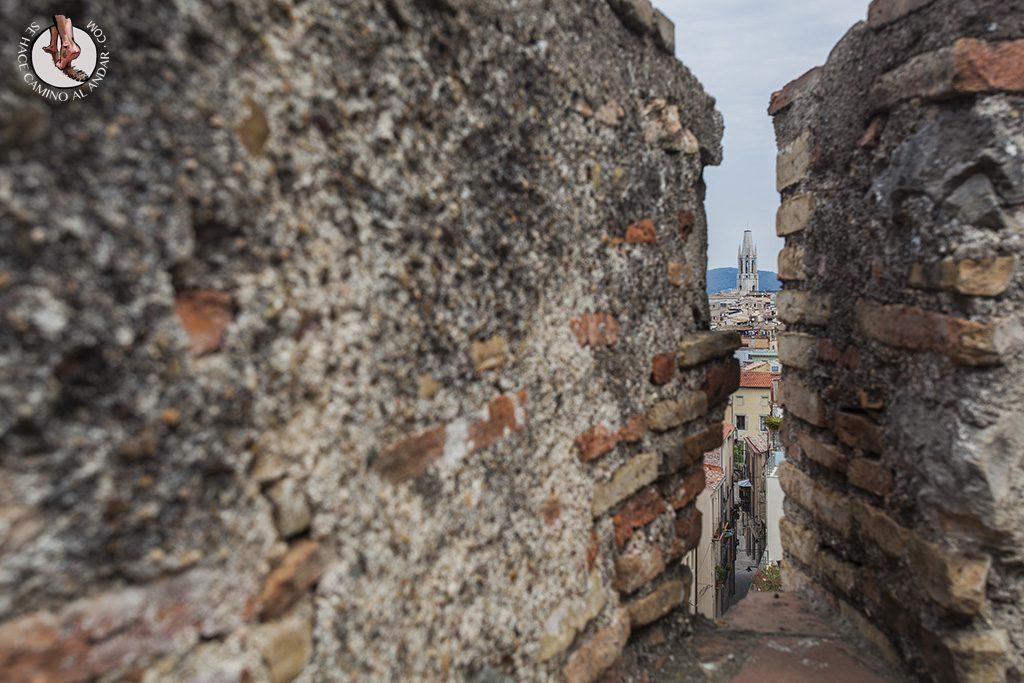 Vistas paseo de la muralla Girona