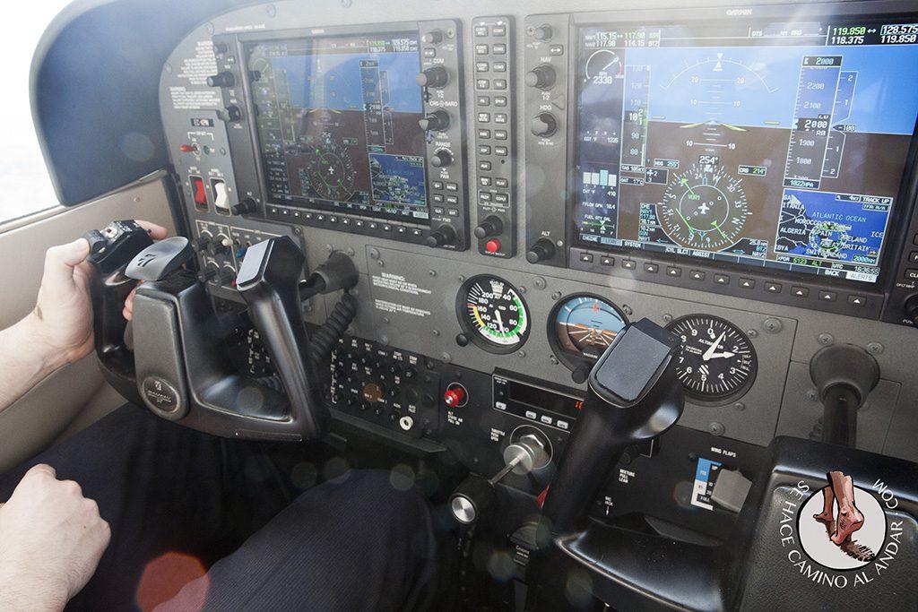Vuelo en avioneta costa gipuzkoa piloto