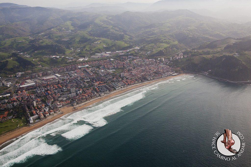 Vuelo avioneta costa gipuzkoa zarauz playa