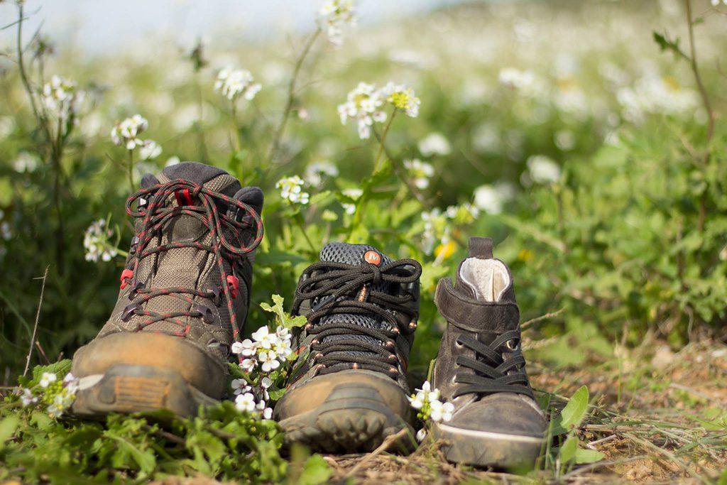 Zapatos Llenando la mochila de sonrisas