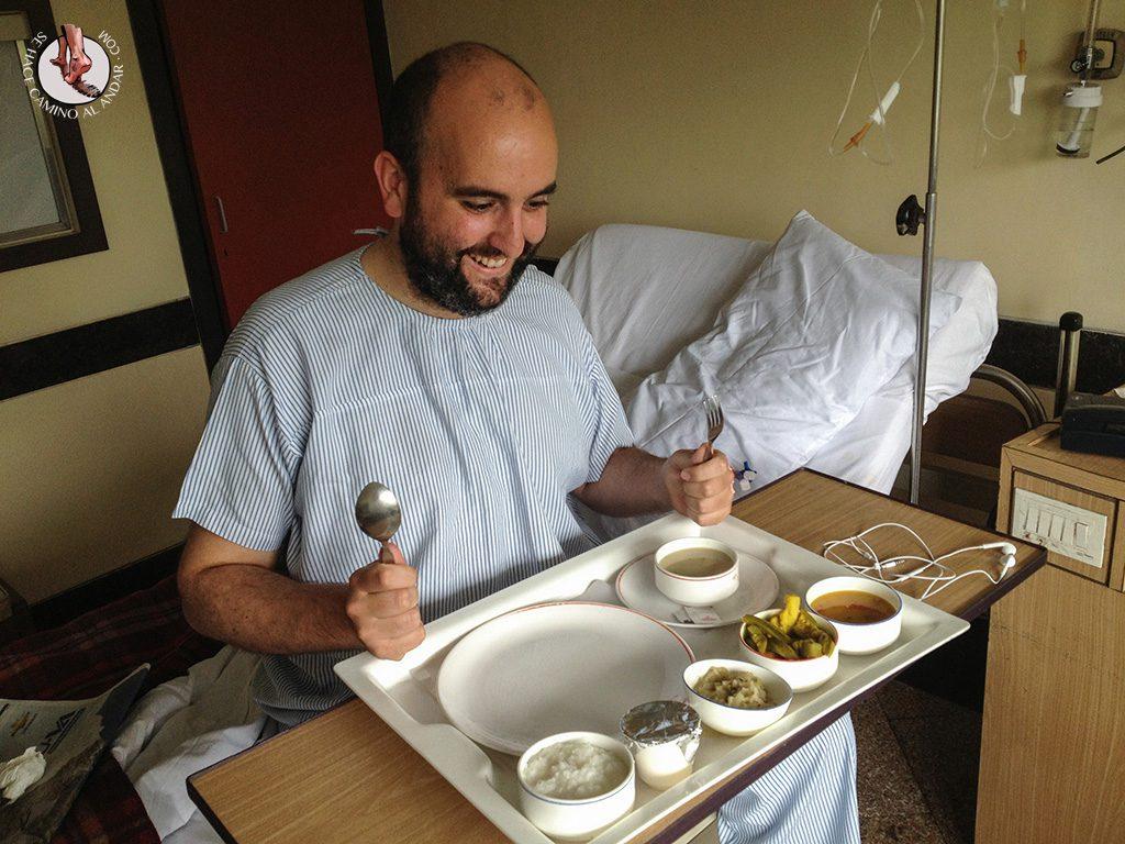 andoni tercera comida hospital india