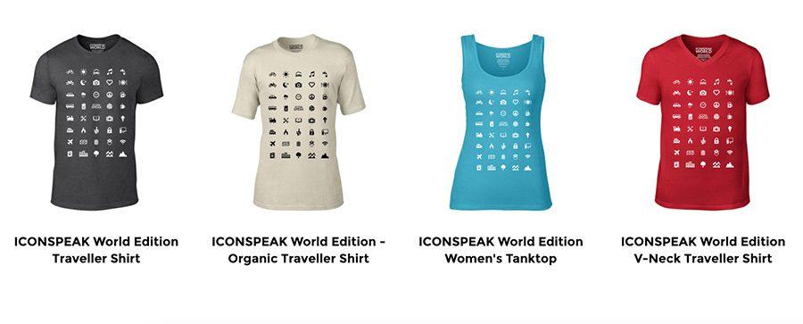 camisetas icono viajes