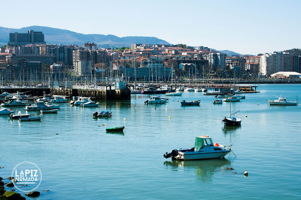 desembocadura ría Bilbao lápiz nómada