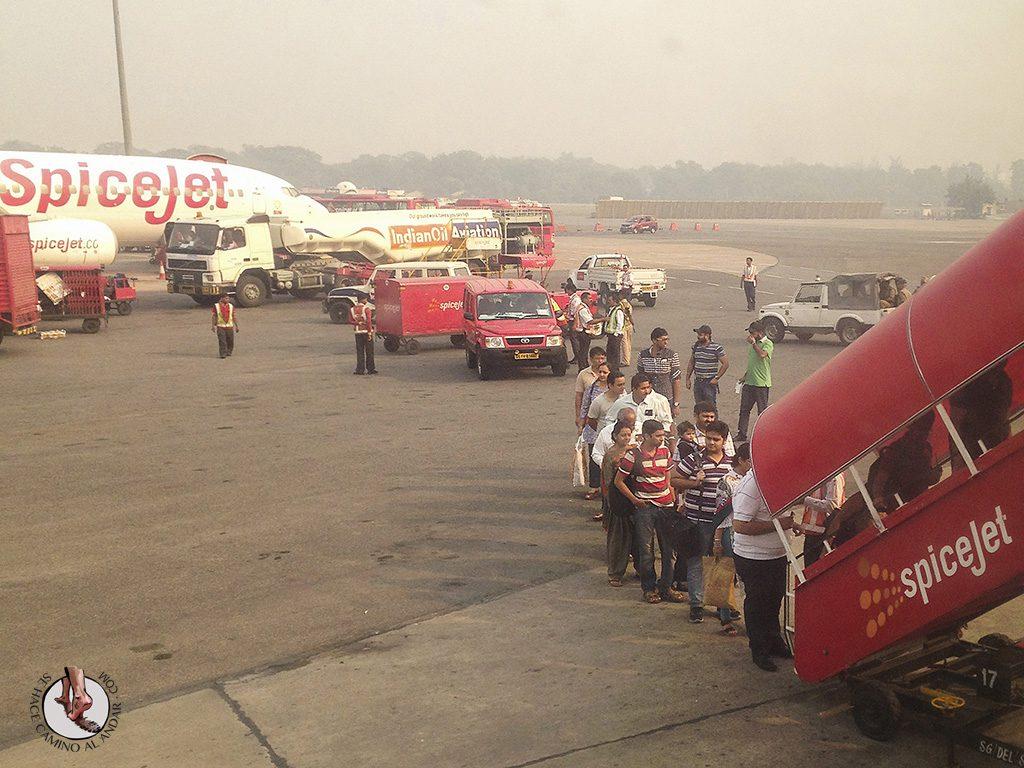 fila india aeropuerto india airindia