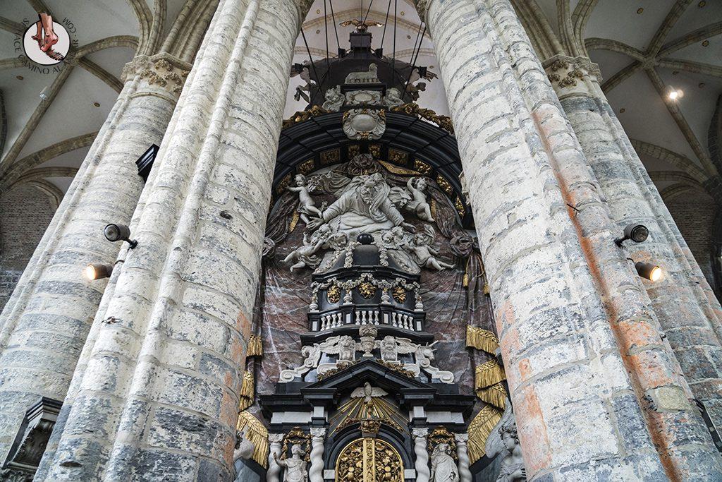 gante iglesia san nicolas figura marmol