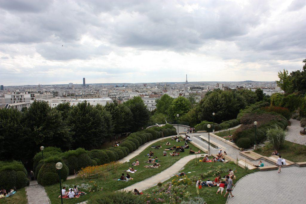 Toits de Paris depuis le parc de Belleville