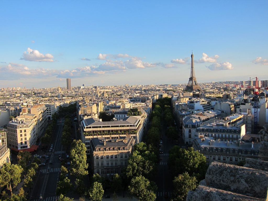 View from Arc de Triomphe, Paris