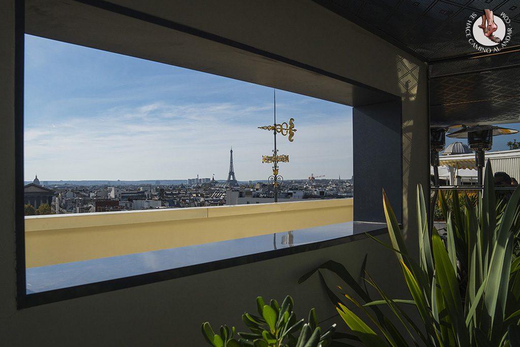 miradores de paris galerias pritemps ventana eiffel