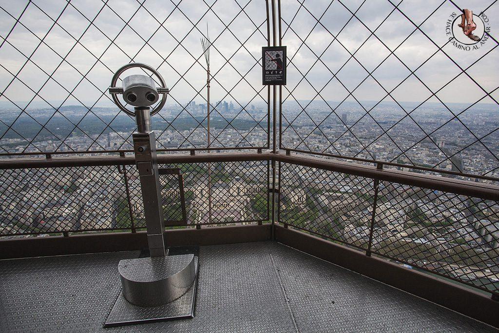 miradores de paris torre eiffel telescopio