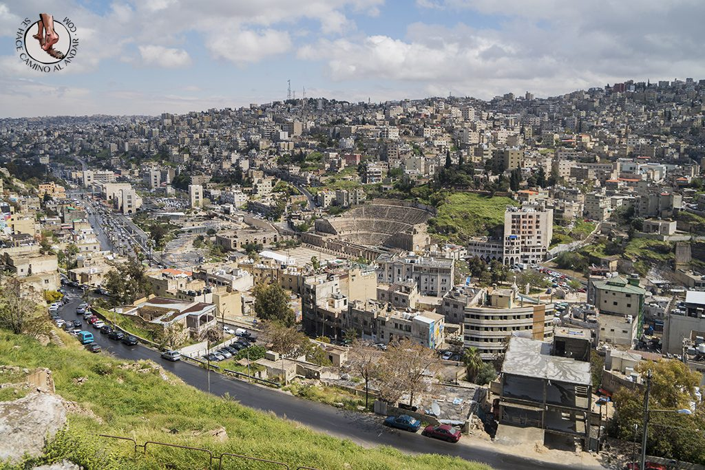 organizar viaje a jordania amman ciudadela vistas