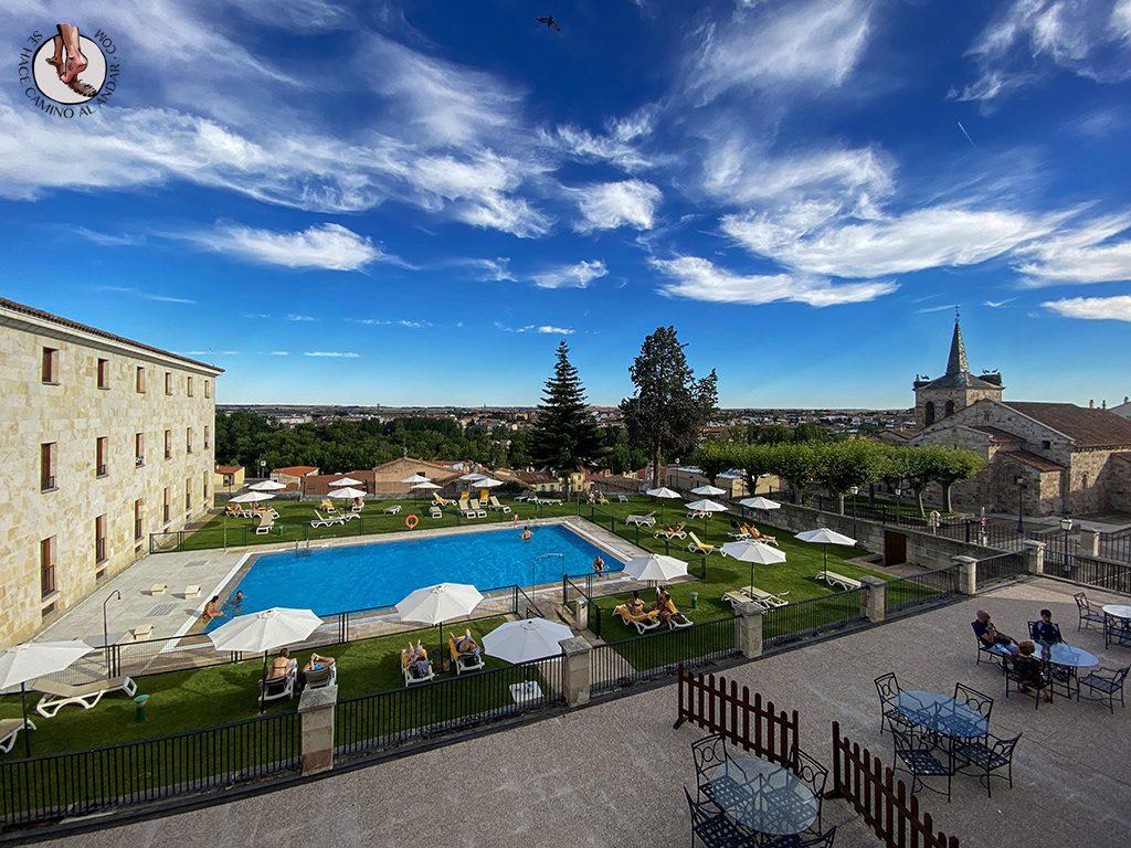 parador hotel piscina zamora habitacion vistas