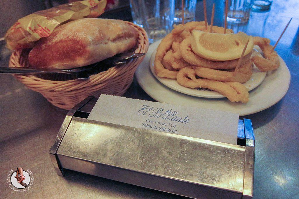 que comer madrid brillante bocadillo calamares