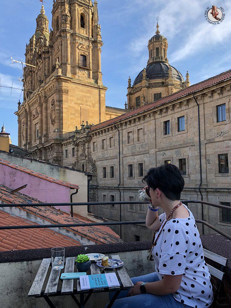 que ver en Salamanca La Malhablada terraza tarta