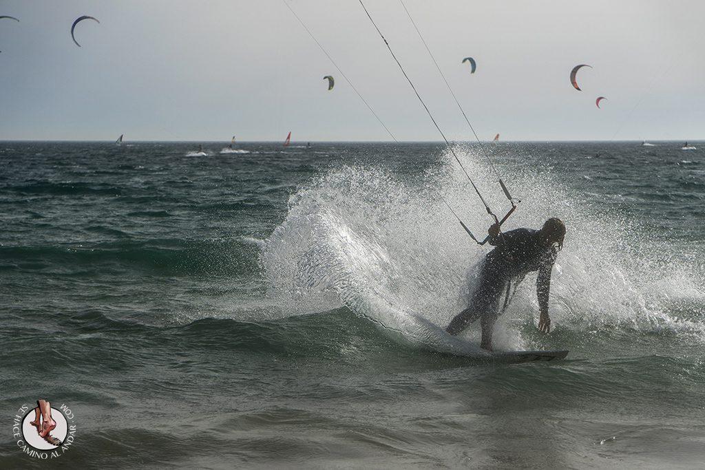 que ver en Tarifa playa valdevaqueros windsurf derrape