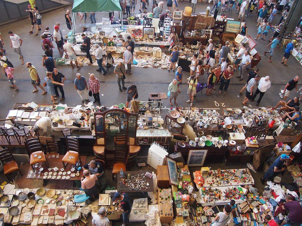 que ver en barcelona mercado flea market