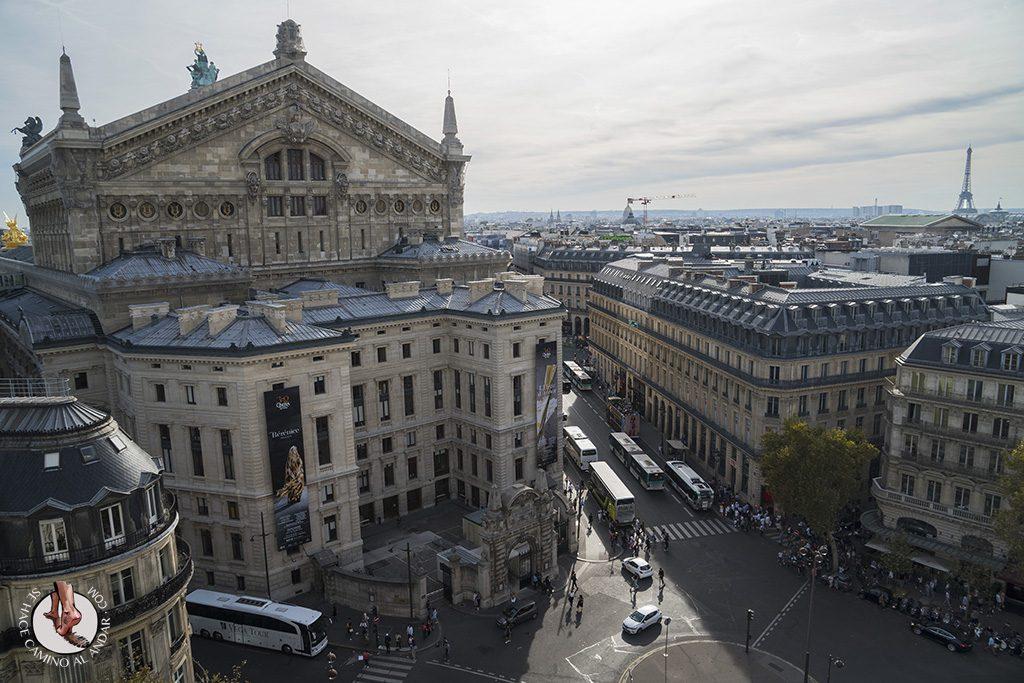 que ver en paris Galerias Lafayette vistas opera