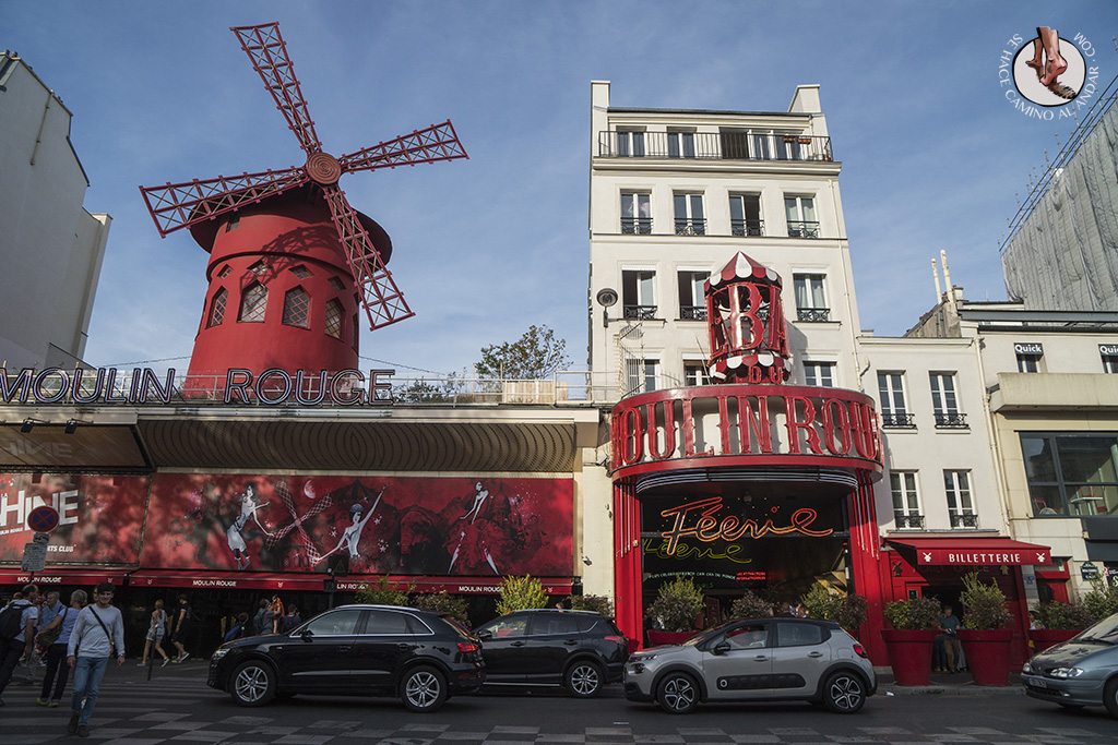 que ver en paris barrio montmartre molin rouge dia