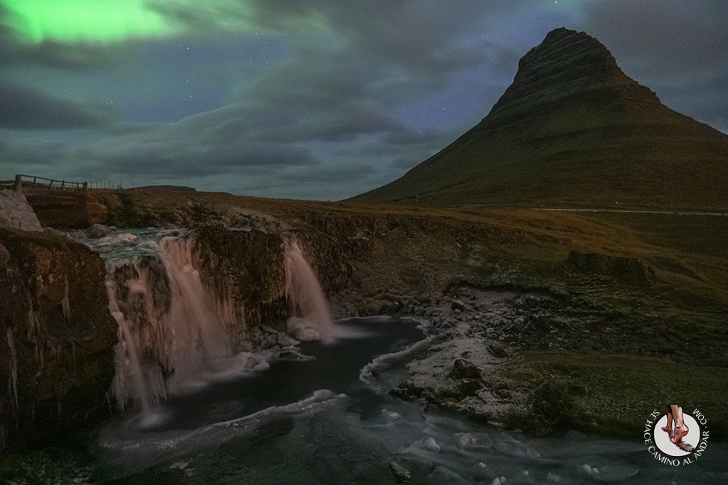 ring road 7-7 Kirkjufellsfoss aurora boreal