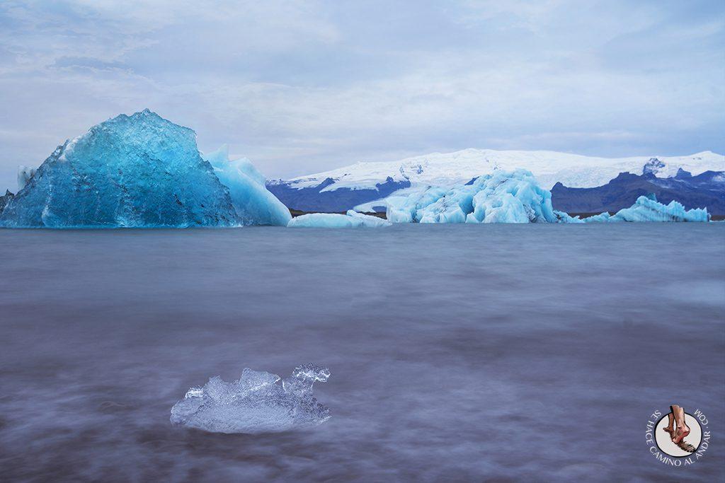 ring road islandia dia 4-7 Glaciar Jokulsarlon larga exposicion