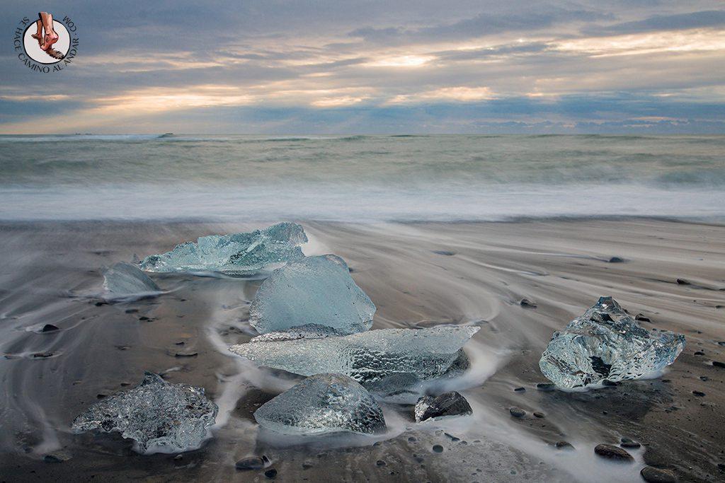 ring road islandia dia 4-7 diamond beach larga exposicion