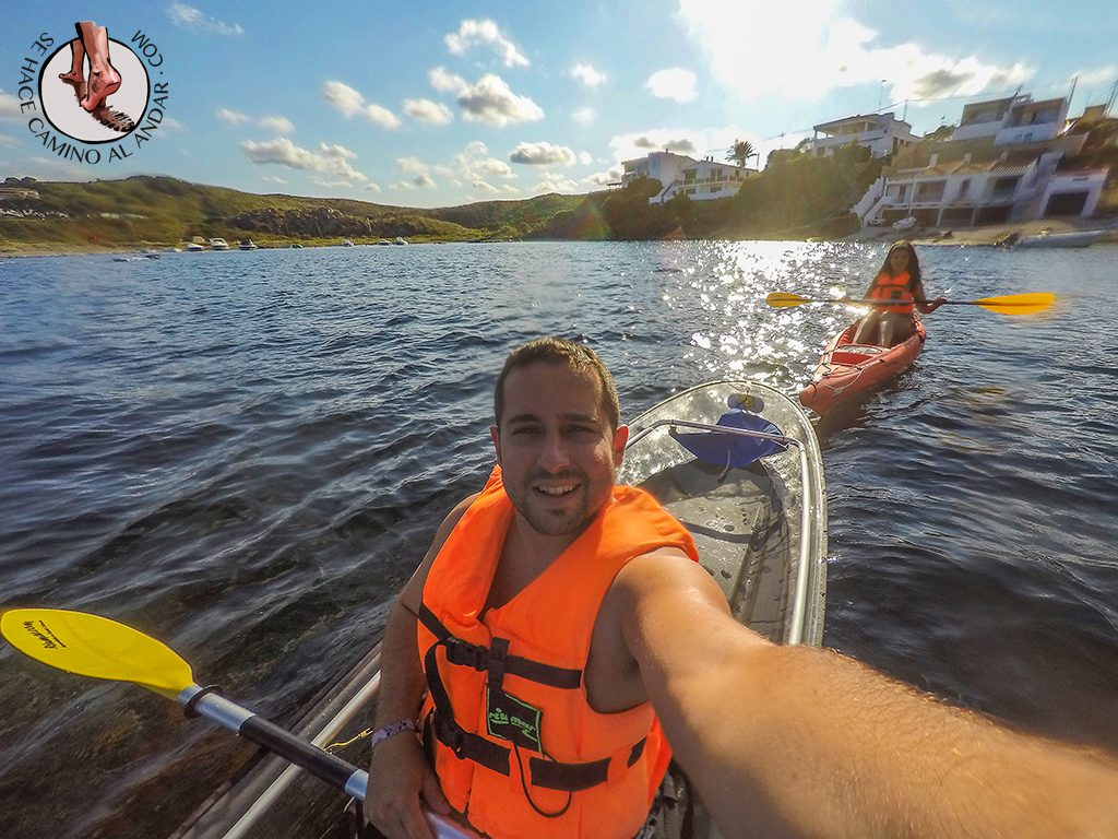 selfie kayak transparente