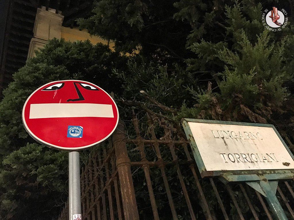señal prohibido cara