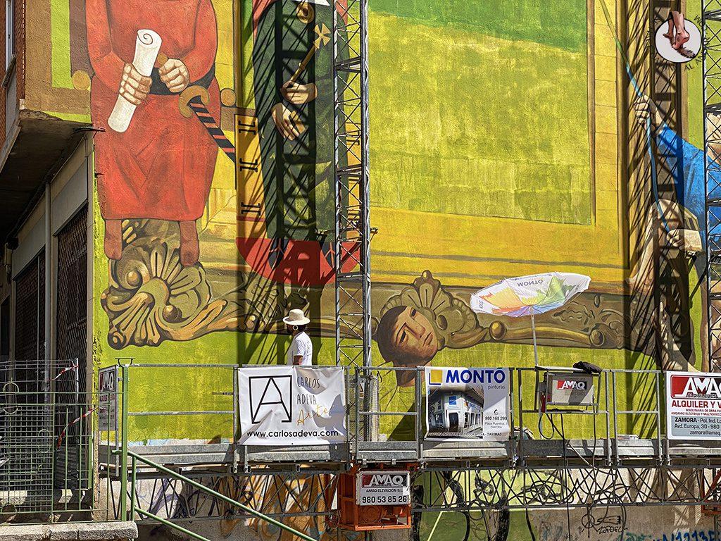 Arte urbano Zamora fachada carlos adeva