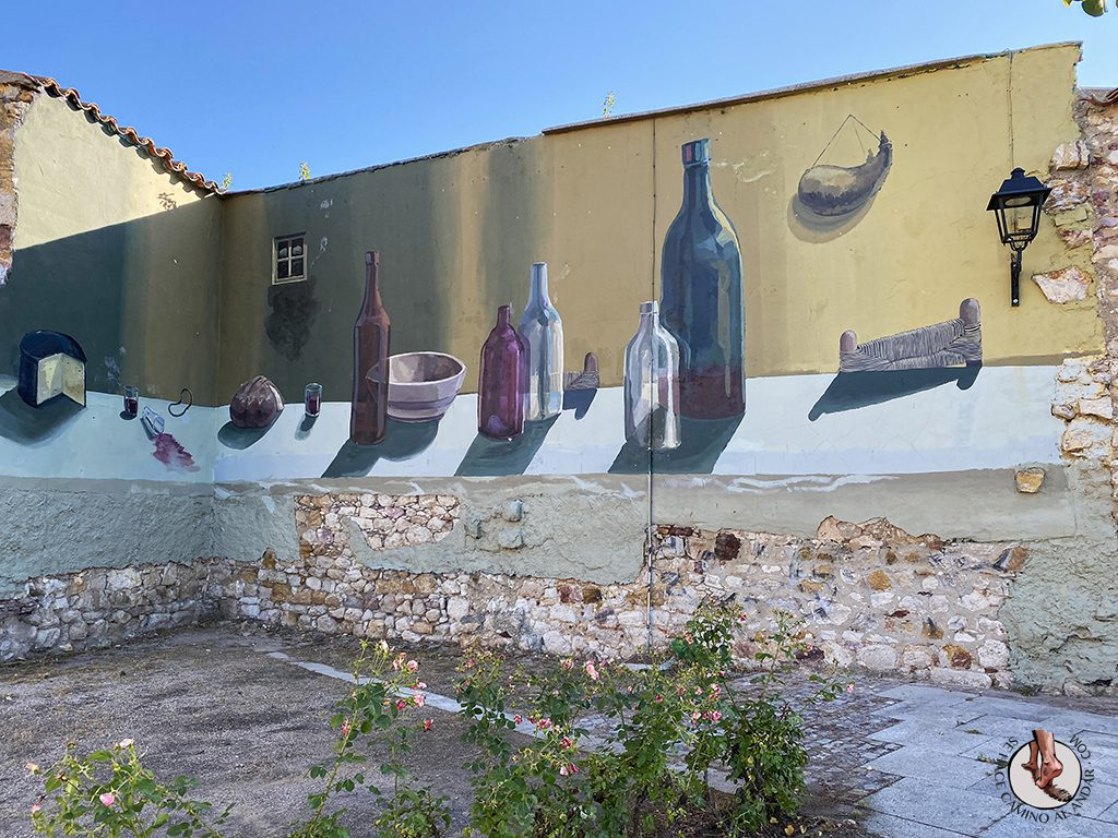 Arte urbano Zamora fachada vino