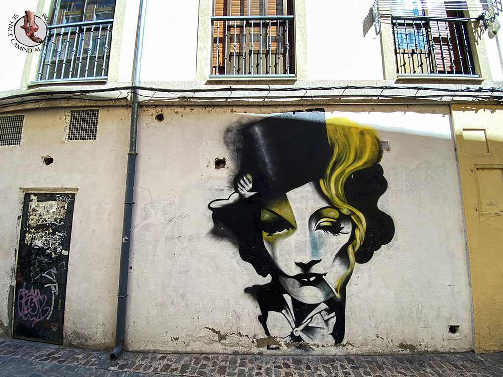Arte urbano Zamora mural Marlene Dietrich