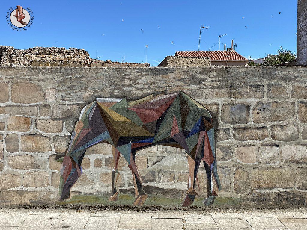 Arte urbano Zamora mural caballo