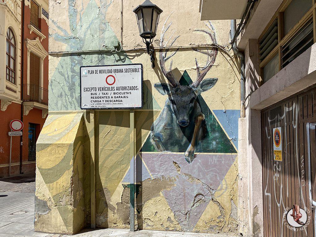 Arte urbano Zamora mural ciervo