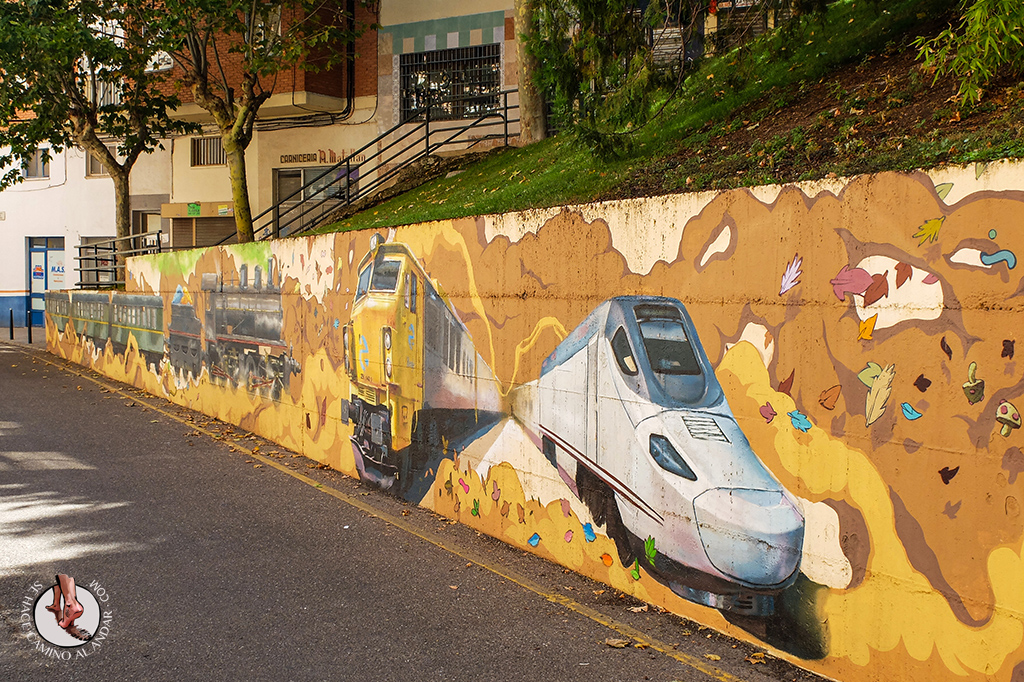 Arte urbano Zamora mural trenes