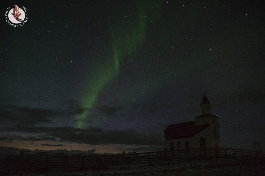 Aurora boreal leve