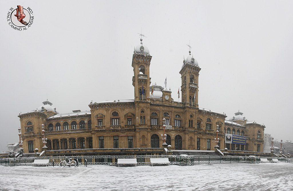 Ayuntamiento nevado San Sebastian
