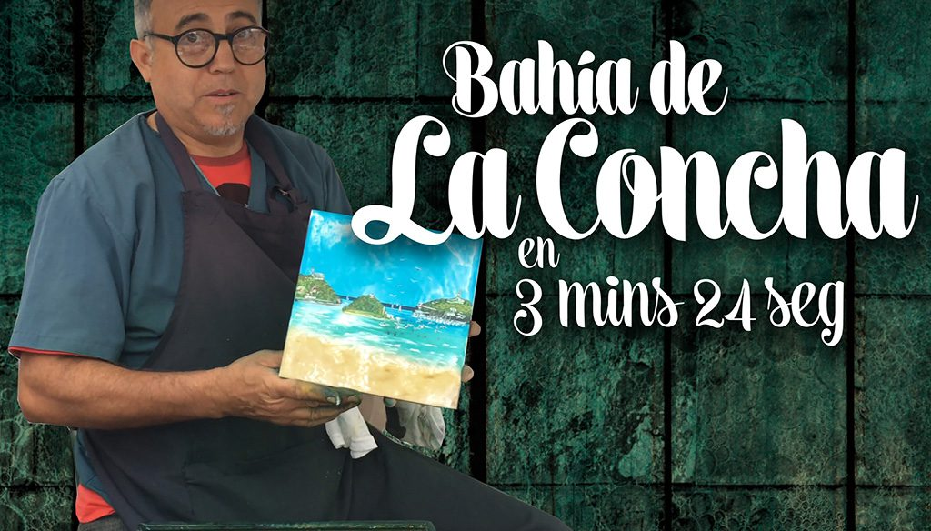 Bahía de la Concha en Azulejo