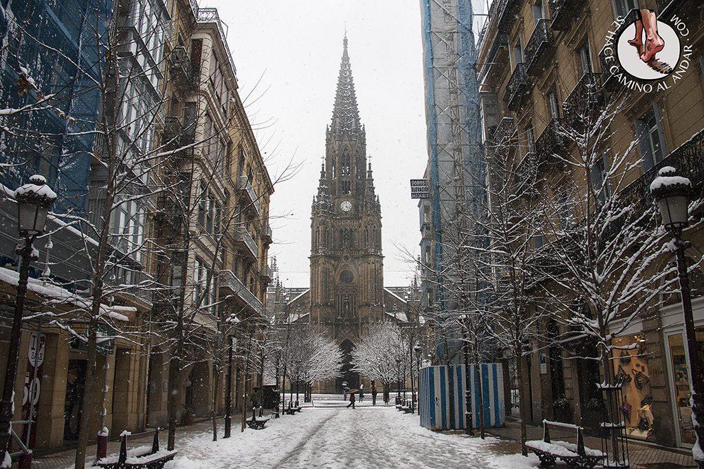 Calle Loiola Buen Pastor nieve
