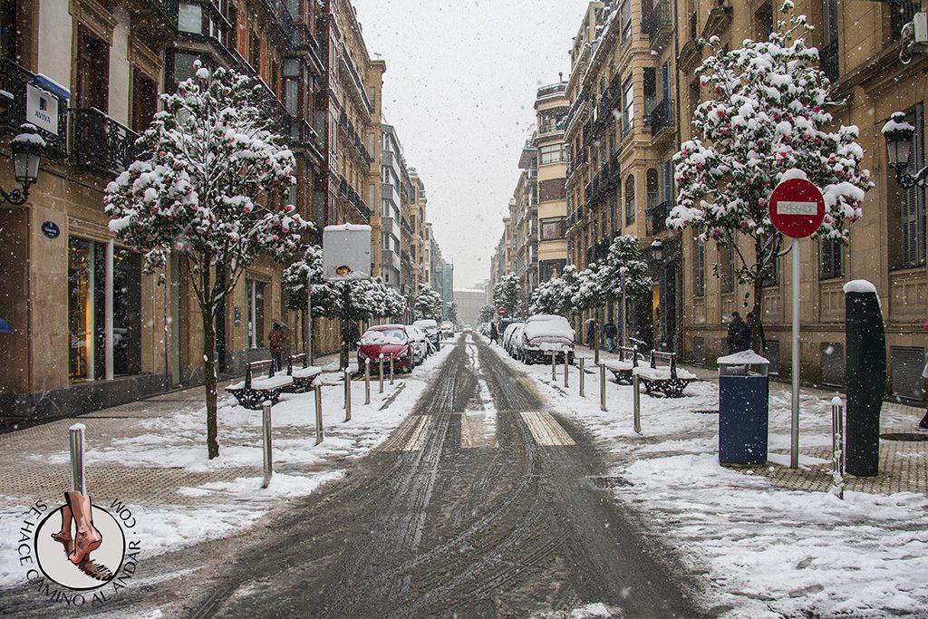 Calle San Marcial nieve