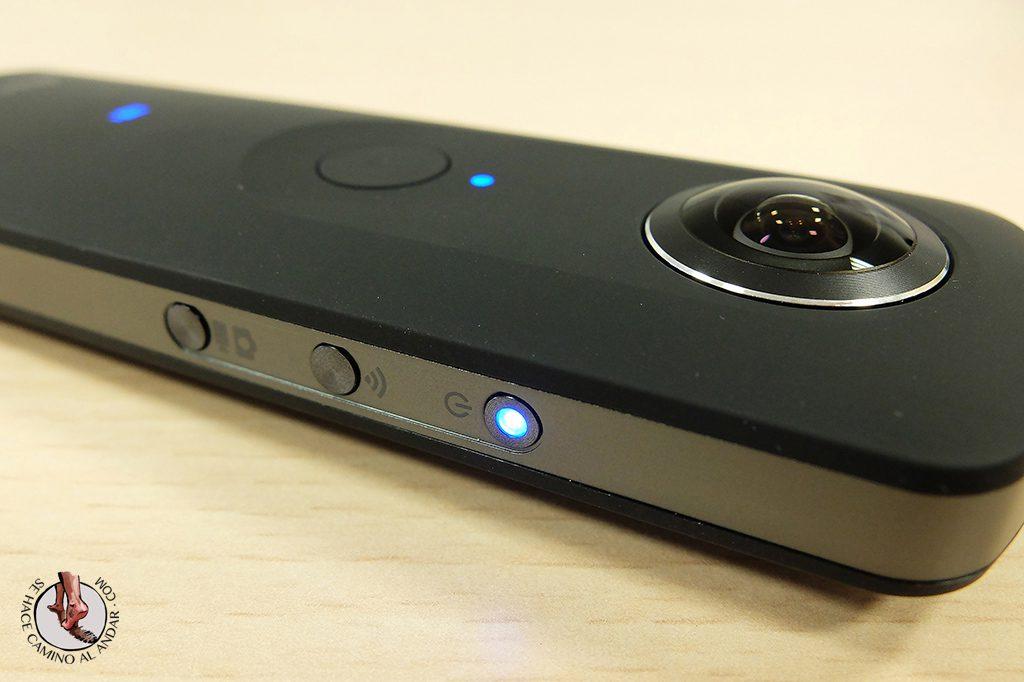 Camara 360 Ricoh Theta S luces
